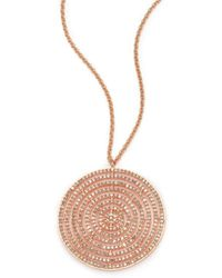 Astley Clarke - Icon Light Grey Diamond & 14k Rose Gold Aura Long Large Pendant Necklace - Lyst
