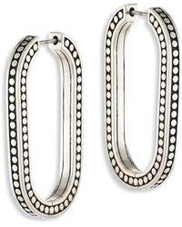 John Hardy - Dot Large Sterling Silver Link Earrings/2 - Lyst