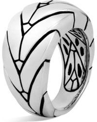 John Hardy - Modern Chain Sterling Silver Medium Ring - Lyst