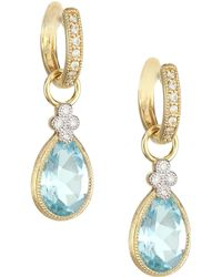 Jude Frances - Provence 18k Yellow Gold, Diamond & Pear Topaz Earring Charms - Lyst