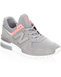 New Balance - Suede Mesh Sneakers - Lyst