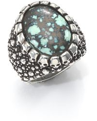 King Baby Studio - Stingray Turquoise & Sterling Silver Ring - Lyst