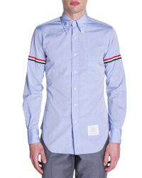 Thom Browne - Button-down Two-toned Armband Button-down Shirt - Lyst