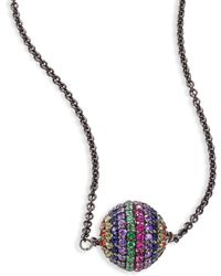 Ileana Makri - Rainbow Bead Pendant Necklace - Lyst