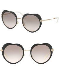 Miu Miu - 52mm Heart Sunglasses - Lyst