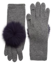 Eugenia Kim - Sloane Pom-pom Fox Fur & Cashmere Gloves - Lyst