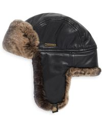 Crown Cap - Fur-lined Leather Aviator Hat - Lyst