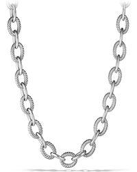 David Yurman - Oval Extra-large Link Necklace - Lyst