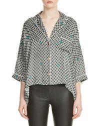 Maje - Charline Silk Pajama Top - Lyst