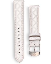 Michele Watches - Women's Urban Quilted Leather Watch Strap/16mm - Whisper White - Lyst