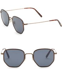 75b38c729a2f Oliver Peoples Men s Alland Square Metal acetate Sunglasses in Gray ...