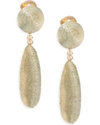Oscar de la Renta | Oval Silk Drop Earrings | Lyst