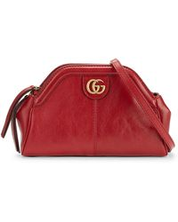 df421796f Gucci Linea Dragoni Small Embroidered Suede Shoulder Bag in Black - Lyst