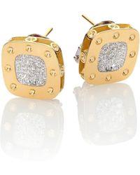 Roberto Coin - Pois Moi Diamond & 18k Yellow Gold Stud Earrings - Lyst