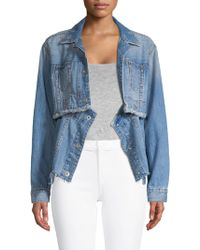 True Religion - Convertible Cutoff Trucker Jacket - Lyst