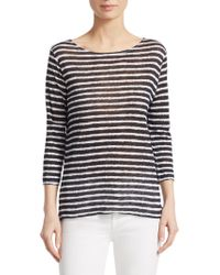 Majestic Filatures - Striped Linen Pullover - Lyst