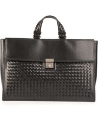 Bottega Veneta - Nero Leather Handbag - Lyst