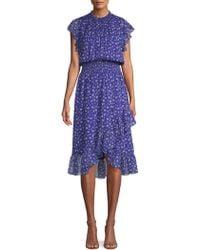Shoshanna - Kinne Silk Blouson Dress - Lyst