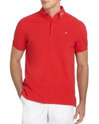J.Lindeberg - Rubi Organic Cotton Polo Shirt - Lyst