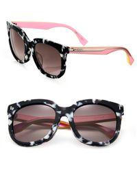 Fendi - 54mm Acetate Rectangular Sunglasses - Lyst