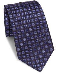 Armani - Square Neat Silk Tie - Lyst