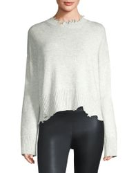 Helmut Lang - Wool & Cashmere Distressed Pullover - Lyst