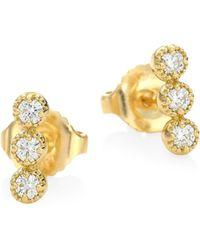 Hearts On Fire - Diamond & 18k Yellow Gold Earrings - Lyst