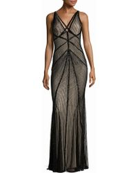 Rachel Gilbert   Lucy Embellished V-back Gown   Lyst