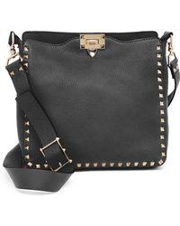 Valentino - Rockstud Utilitarian Small Leather Crossbody Bag - Lyst