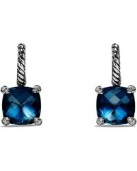 David Yurman - Châtelaine Drop Earrings With Gemstone And Diamonds - Lyst