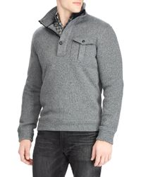 Polo Ralph Lauren - Heathered Fleece Half-zip Sweater - Lyst