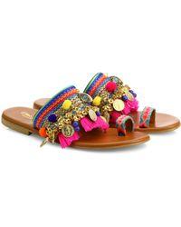 Elina Linardaki | Jaipur Embellished Slides | Lyst