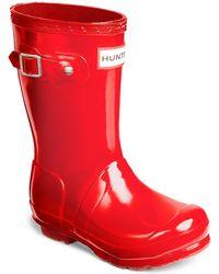 HUNTER - Kid's Gloss Original Tall Rubber Rain Boots - Lyst