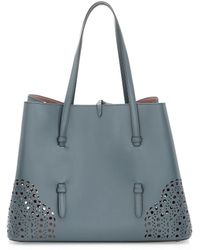 Alaïa - Small Eyelet Leather Tote - Lyst