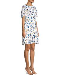 Shoshanna - Bianco Floral Print Dress - Lyst