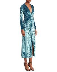 Galvan London - Cloud Velvet Midi Dress - Lyst