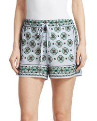 Sandro - Happening Ivy Mosaic-print Shorts - Lyst