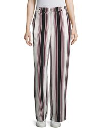 Splendid - Luxe Striped Silk Trousers - Lyst