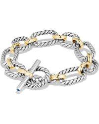 David Yurman - Cushion Link Chain Bracelet With 18k Gold - Lyst