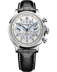 Baume & Mercier - Capeland 10006 Flyback Stainless Steel & Alligator Strap Chronograph Watch - Lyst