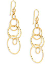 Ippolita - Glamazon Diamond & 18k Yellow Gold Mini Jet Set Drop Earrings - Lyst