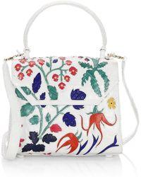 d2dbae510deb Nancy Gonzalez Lily Large Crocodile Flap Top-handle Bag in Blue - Lyst
