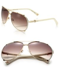 Dior - Chicago 63mm Metal Aviator Sunglasses - Lyst