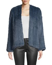 H Brand - Elle Rabbit-fur Jacket - Lyst