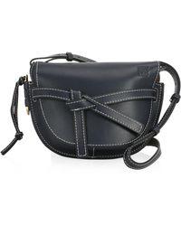 Loewe - Small Gate Leather Crossbody Bag - Lyst