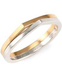 Repossi Antifer 18k Rose & White Gold Colorblock Ring - Metallic
