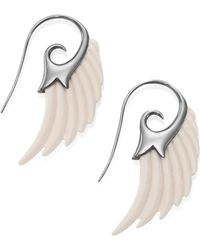 Noor Fares | Fly Me To The Moon Ivory Wing Earrings | Lyst