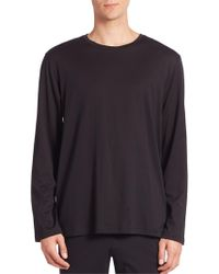 Hanro - Night And Day Solid Long Sleeve Tee - Lyst