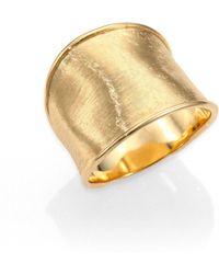 Marco Bicego - Lunaria 18k Yellow Gold Medium Band Ring - Lyst