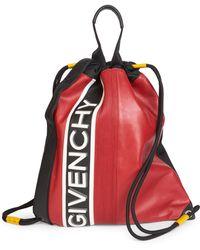 Givenchy - Logo-print Drawstring Backpack - Lyst